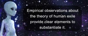 Empirical observations about the theory of human exile provide clear elements to substantiate it.